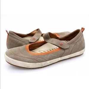 Taos Mary Jane Leather Stitched Comfort Shoes